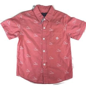 Andy & Evan short sleeve chambray shirt